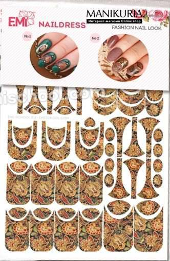 Naildress E.MI Slider Design Цветы Индии