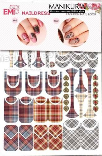 Naildress E.MI Slider Design Тартан