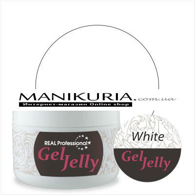 Гель-желе Real Professional Gel-Jelly White белый, 50 г