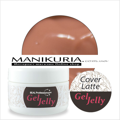 Гель-желе Real Professional Gel-Jelly Cover Latte, 30 г